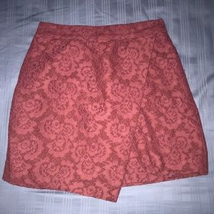 red lace skirt !